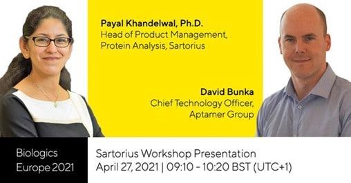 Aptamer Group Sartorius workshop